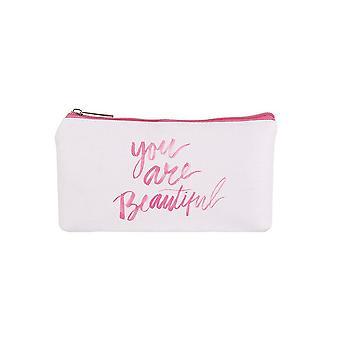 Jewelcity You are Beautiful Small Flat Makeup Bag