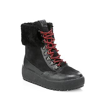 Treinador Womens Tyler Amêndoa de borracha Toe Mid-Calf Cold Weather Boots