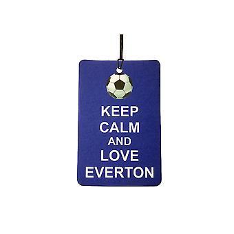 Gardez votre calme et aime Everton Car Air Freshener