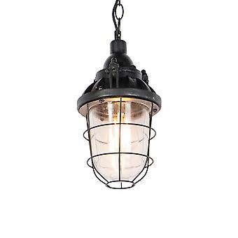 QAZQA Industrial hanging lamp black - Cabin