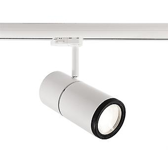 LED Rail Spotlight Pleione Focus II 34W 4000 K 25 °-60 ° 195x90mm wit IP20