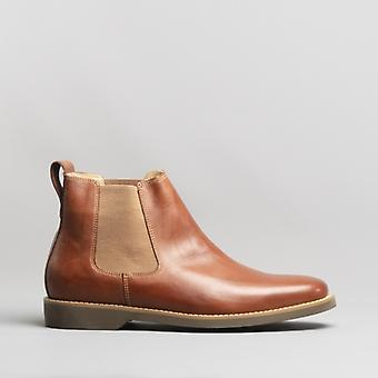 Anatomic & Co. Cardoso Mens Leather Chelsea Boots Havana