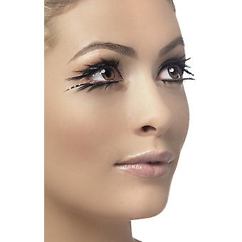 Black Eyelashes with Crystals