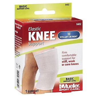 Mueller elastic knee support, medium, fits left or right, 1 ea