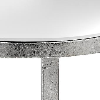 丘インテリア ミラー シルバー ハーフ ムーン テーブル