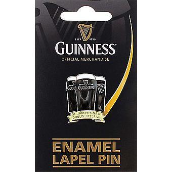 Guinness tre Pints metall / emalj Lapel Pin Badge