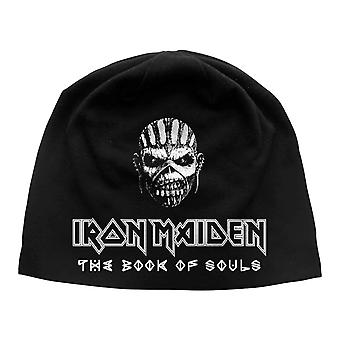 Iron Maiden Beanie Hat Cap The Book Of Souls new Official jersey print