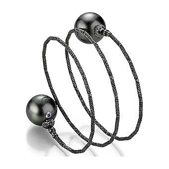 Yana Nesper-armband-dam-ny svart Tahiti pärlstav armband WRAPme UN125