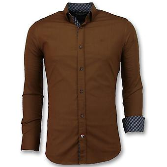 Shirts - Extra Slim Fit - Brown