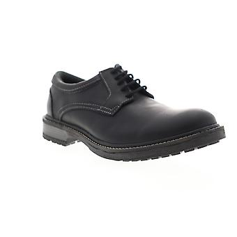 GBX Pyne  Mens Black Leather Casual Lace Up Oxfords Shoes