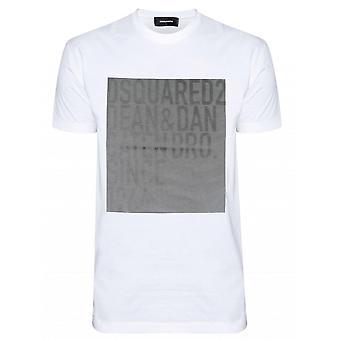 DSQUARED2 DSQUARED2 White Printed Logo T-Shirt