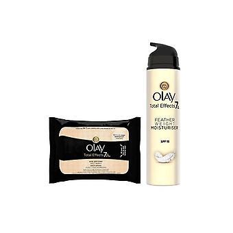 Women's Cosmetics Set Total Effects Textura Ultraligera Sp Olay (2 buc.