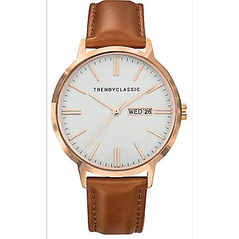 Watch Trendy Classic CRG1039-11 d - dater Leather Brown Bo tier e Dor pink man