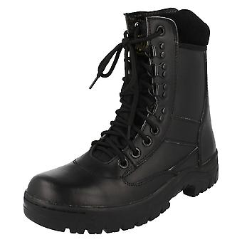 Mens Truka Lace Up Leather Combat Boots 01639