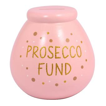 Pot of Dreams Prosecco Fund Ceramic Money Pot
