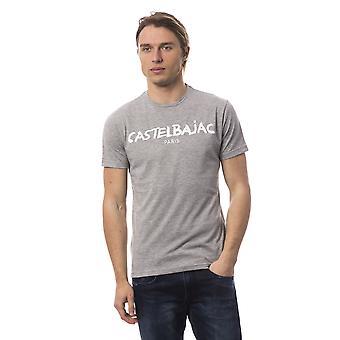 Men's Castelbajac short-sleeved grey T-shirt