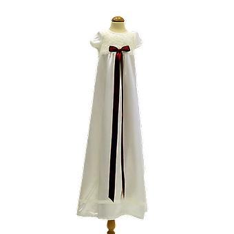 Dopklänning Med Kort ärm, Vinröd Rosett .grace Of Sweden