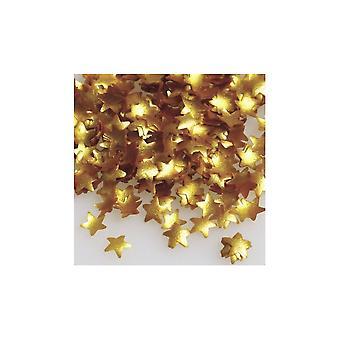 Rainbow Polvo Edible Confeti Gold Star