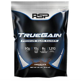 Rsp truegain, premium mass gainer whey protein, strength, muscle gain (chocolate)
