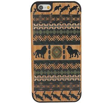 iPhone 6S,6ケース用,ライオンアート高品質現代木製シールドカバー