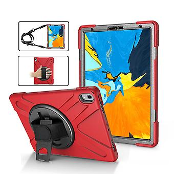 Red Shoulder & Hand-strap Armor For iPad Pro 11 Inch (2018) Case