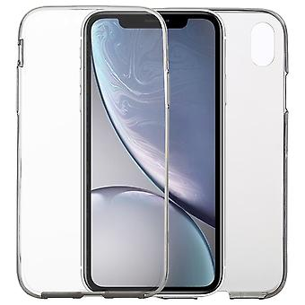 Ultra-thin Double-sided Full Coverage Transparent TPU Case For iPhone XR,Grey