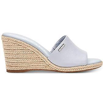 Calvin Klein Women's Britta Wedge Sandals, Blue Grey, 8 M
