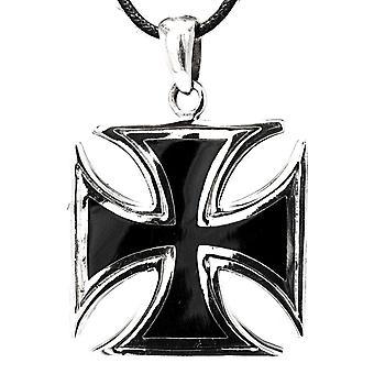 قلادة 175 الحديد الصليب - الفضة
