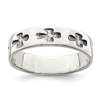925 Sterling Silver polerad religiös tro Cross Ring Smycken Gåvor för kvinnor - Ring Storlek: 6 till 8