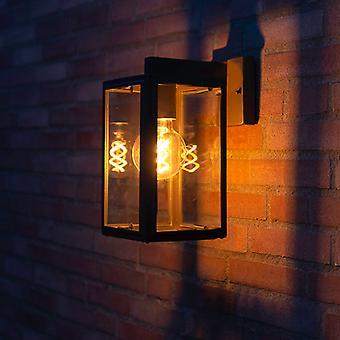 QAZQA Industrial Wall Lamp Black IP44 - Sutton Down