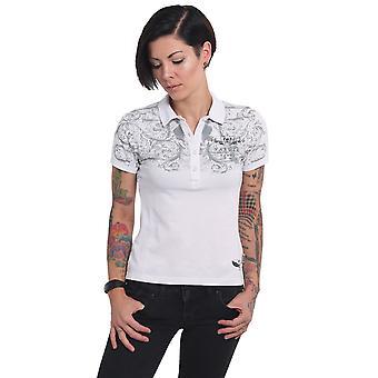 YAKUZA Kvinnors Polo Shirt Prydnadsskalle Pique