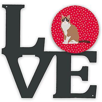 Carolines Treasures  CK5792WALV Snowshoe #2 Cat Love Metal Wall Artwork LOVE