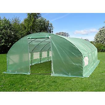 Polytunnel Greenhouse 4x6.6x2 m, 26.4 m², Green