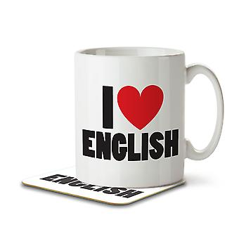 I Love English - Mug and Coaster