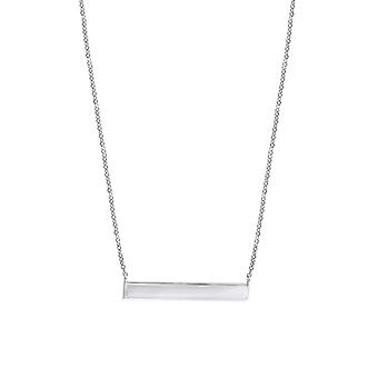 925 Sterling Silver Womens Bar Necklace Measures 6.6x33mm Wide Jewelry Gifts for Women - 2.8 Grams
