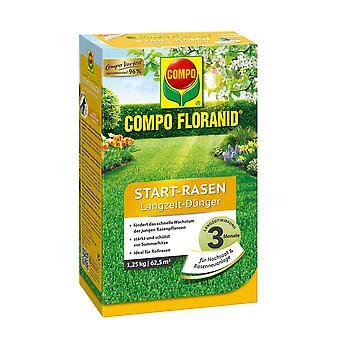 COMPO Floranid® بدء الحديقة الأسمدة على المدى الطويل، 1.25 كجم