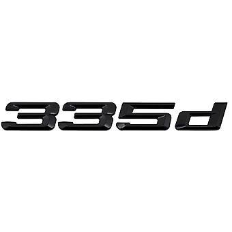 Kiilto Musta BMW 335d Auton badge Tunnus Mallinumerot Kirjaimet 3-sarjan E36 E46 E90 E91 E92 E93 F30 F31 F34 G20