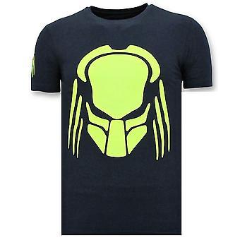 Painettu T-paita - Predator Neon Print - Sininen