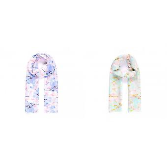 Intrigue Womens/Ladies Soft Floral Print Scarf