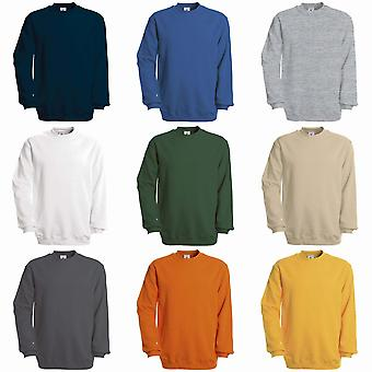 B & C Unisex sett i moderne kuttet Crew hals genser