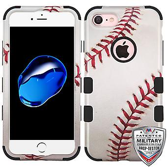 MyBat Baseball-Sports Collection Tuff Hybrid Case for iPhone SE2/8/7 - White/Red