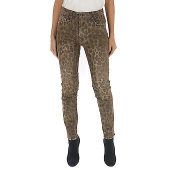R13 R13w0023439 Women's Leopard Denim Jeans
