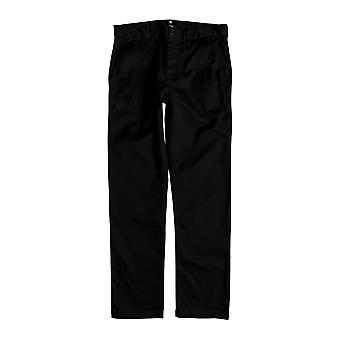 DC Worker Straight Chino Trousers in Black