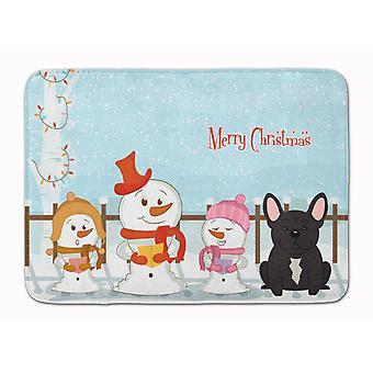 Joyeux Noël chanteurs Français Bulldog bringé Machine tapis en mousse mémoire lavable
