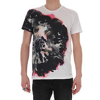Alexander Mcqueen 609577qoz910900 Men's White Cotton T-shirt