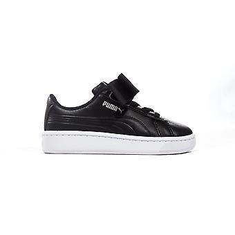 Puma Vikky v2 Band Schleife Säugling Kinder Mode Trainer Schuh schwarz