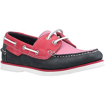 Hush Puppies Womens Hattie Lace Shoes Pink/Navy