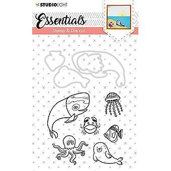 Studio Light A6 Stamp & Die Cut Essentials Animals Number 31