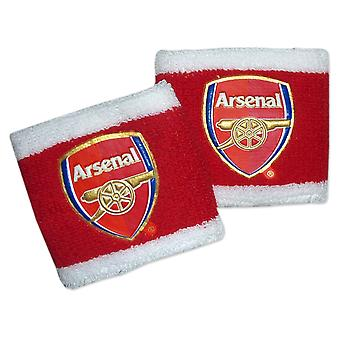 Arsenal FC Official Football Gift 2 Pack Towelling Wristbands