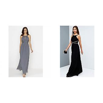 Little Mistress Womens/Ladies Embellished Empire Maxi Dress